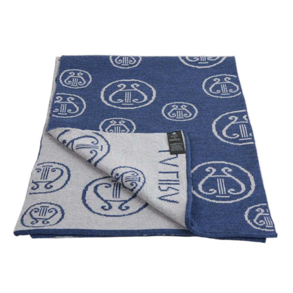 sciarpa LA LIRA lana unisex blu grigia