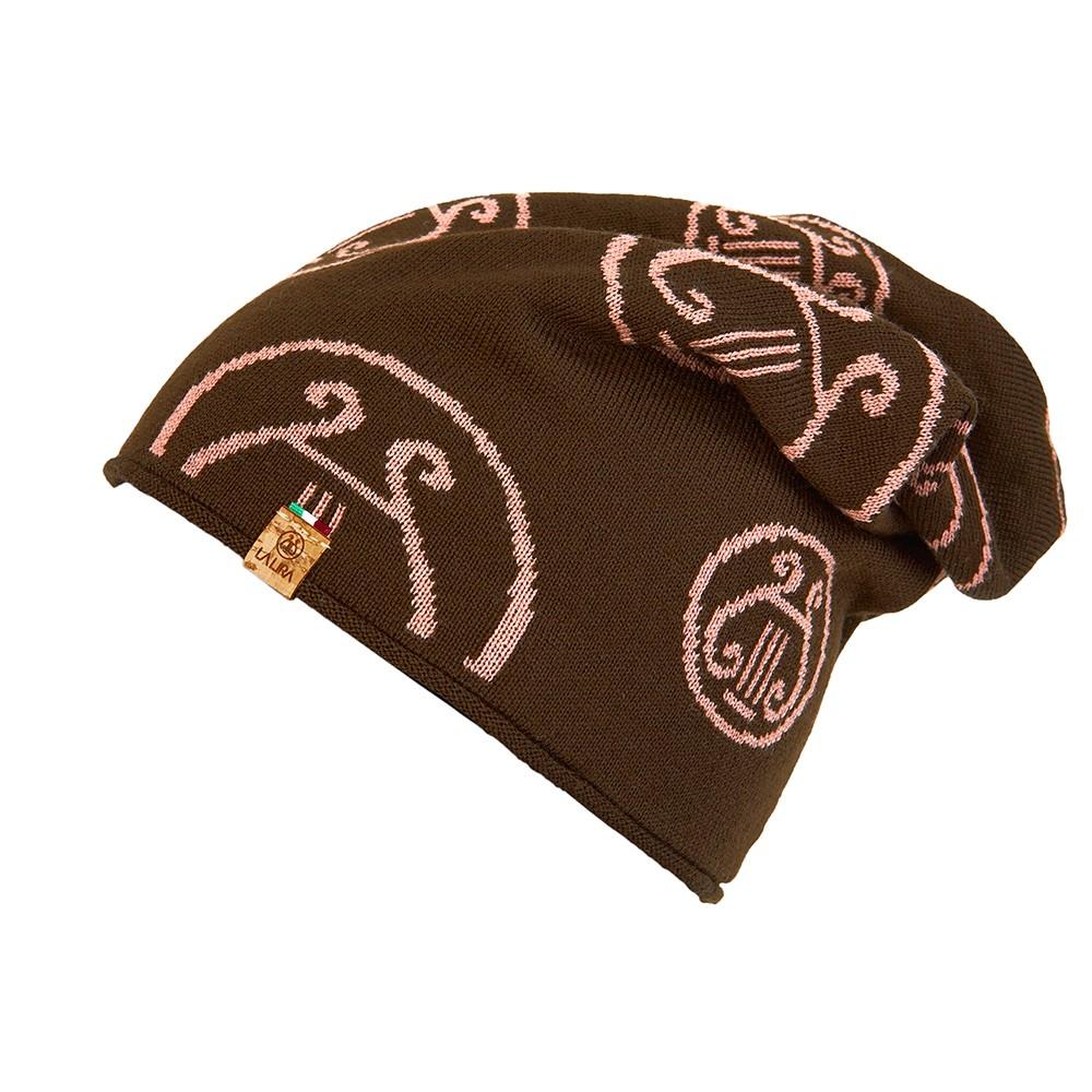 berretto LA LIRA lana unisex marrone rosa antico