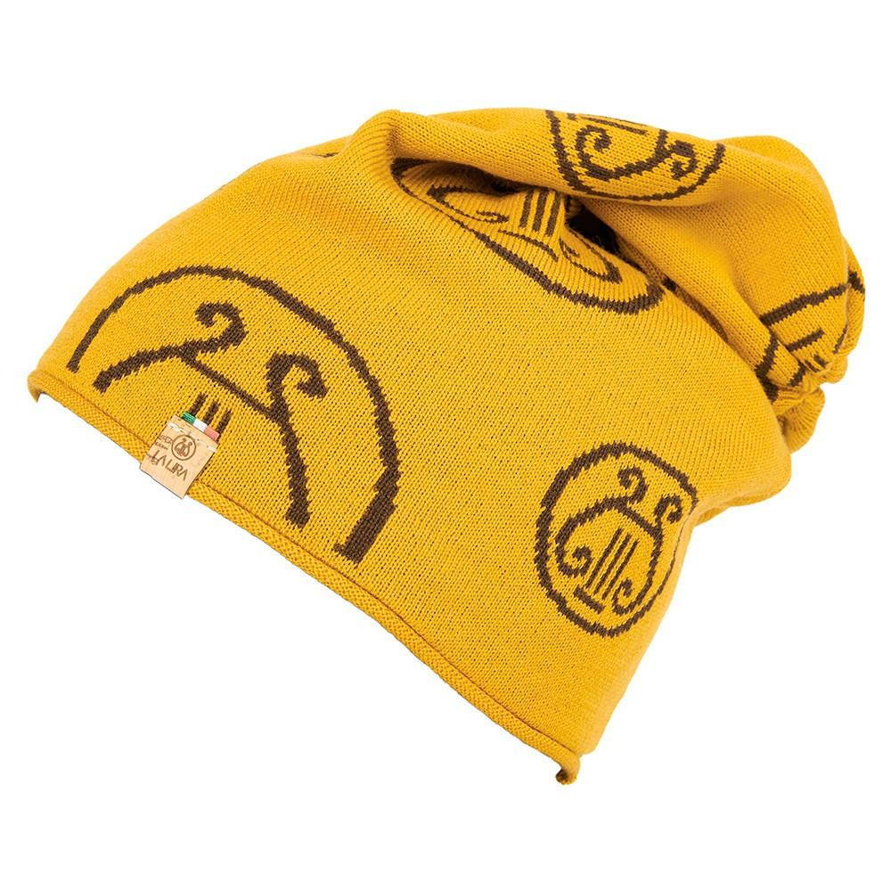 berretto LA LIRA lana unisex giallo marrone