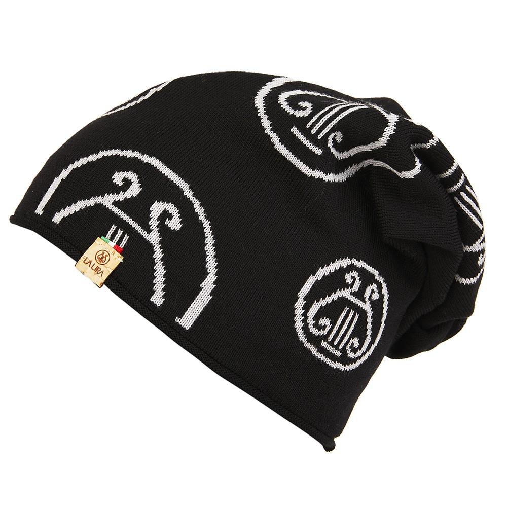 berretto LA LIRA lana unisex nero grigio
