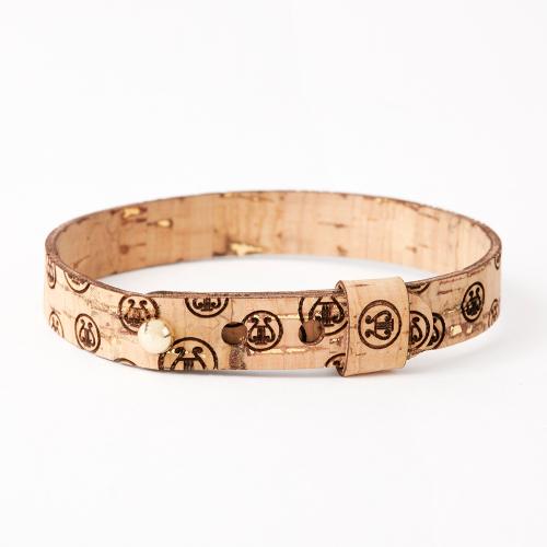 braccialetto LA LIRA sughero naturale oro