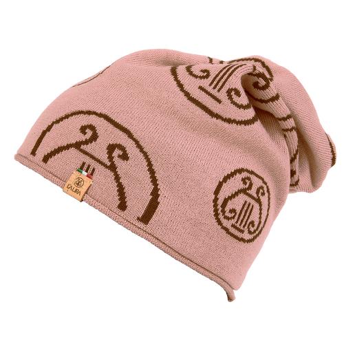 berretto LA LIRA lana unisex rosa antico marrone