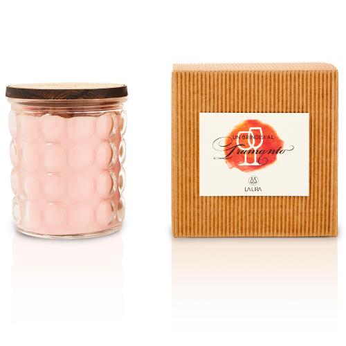 candela profumata bio naturale arancio vite rossa