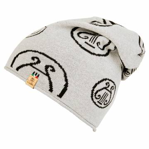 berretto LA LIRA lana unisex grigio nero