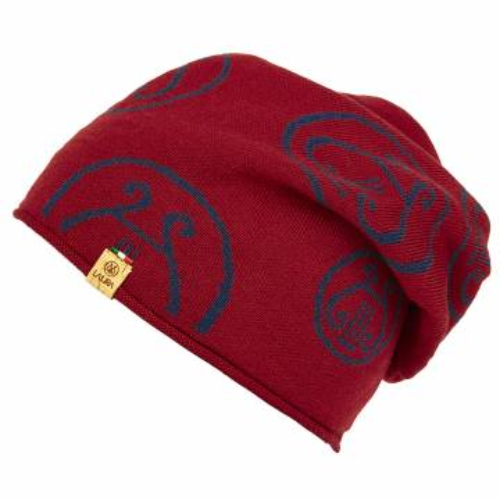 berretto LA LIRA lana unisex rosso blu navy