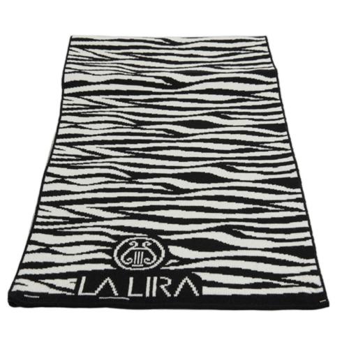 sciarpa LA LIRA lana unisex zebrata nero bianco