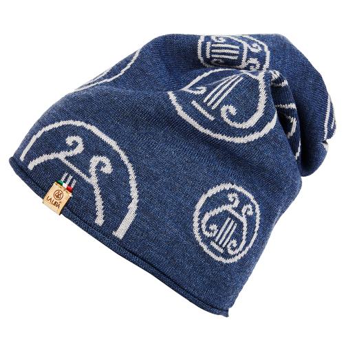berretto LA LIRA lana unisex  blu grigio ghiaccio