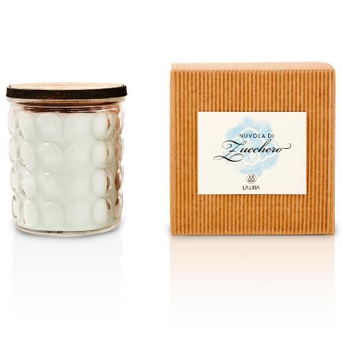 candela profumata bio naturale vaniglia sandalo