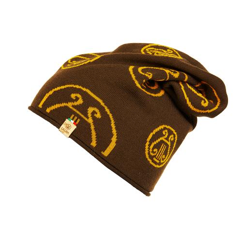 berretto LA LIRA lana unisex marrone giallo oro