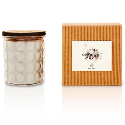 candela profumata bio naturale vaniglia cannella