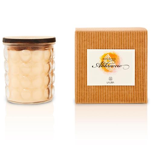 candela profumata bio naturale arancio cannella